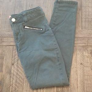 CAbi Skinny Green Pants